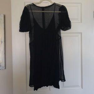 Zara lace party dress with slip